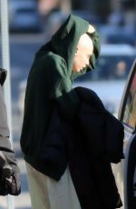 CARA DELEVINGNE with a Shaved Head on the Set of Life in a Year in Toronto 04/24/2017
