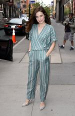 CAROLINE DHAVERNAS Leaves AOL Studios in New York 04/17/2017