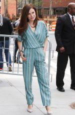 CAROLINE DHAVERNAS Leaves AOL Studios in New York 04/17/2017