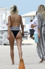 CAROLINE VREELAND and SHEA MARIE in Swimsuit at a Beach in Miami 04/05/2017