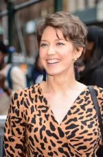 CARRIE COON Arrives at AOL Studios in New York 04/13/2017