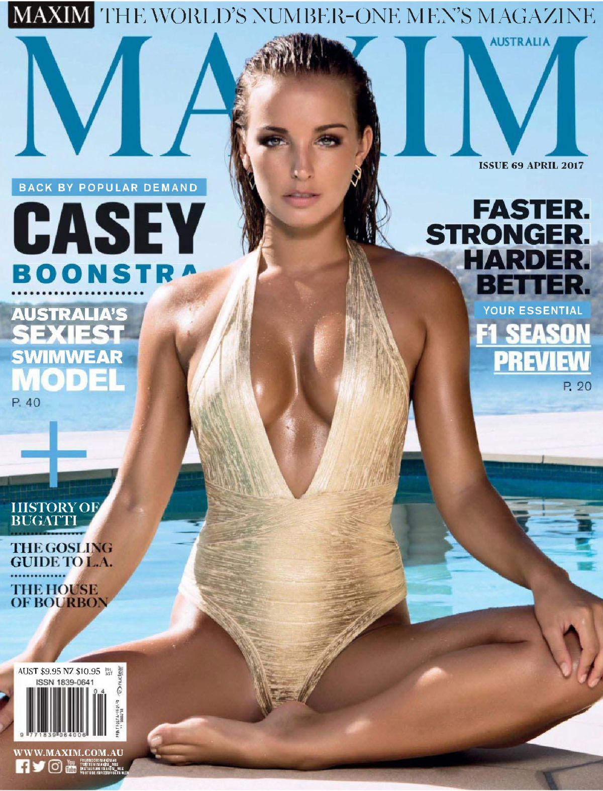 CASEY BOONSTRA in Maxim Magazine, Australia April 2017