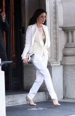 CATHERINE ZETA JONES Leaves Her Apartment in New York 04/18/2017