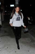 CHANTEL JEFFRIES Out for Dinner in West Hollywood 04/18/2017