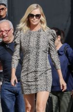 CHARLIZE THERON Arrives at Jimmy Kimmel Live in Los Angeles 04/13/2017