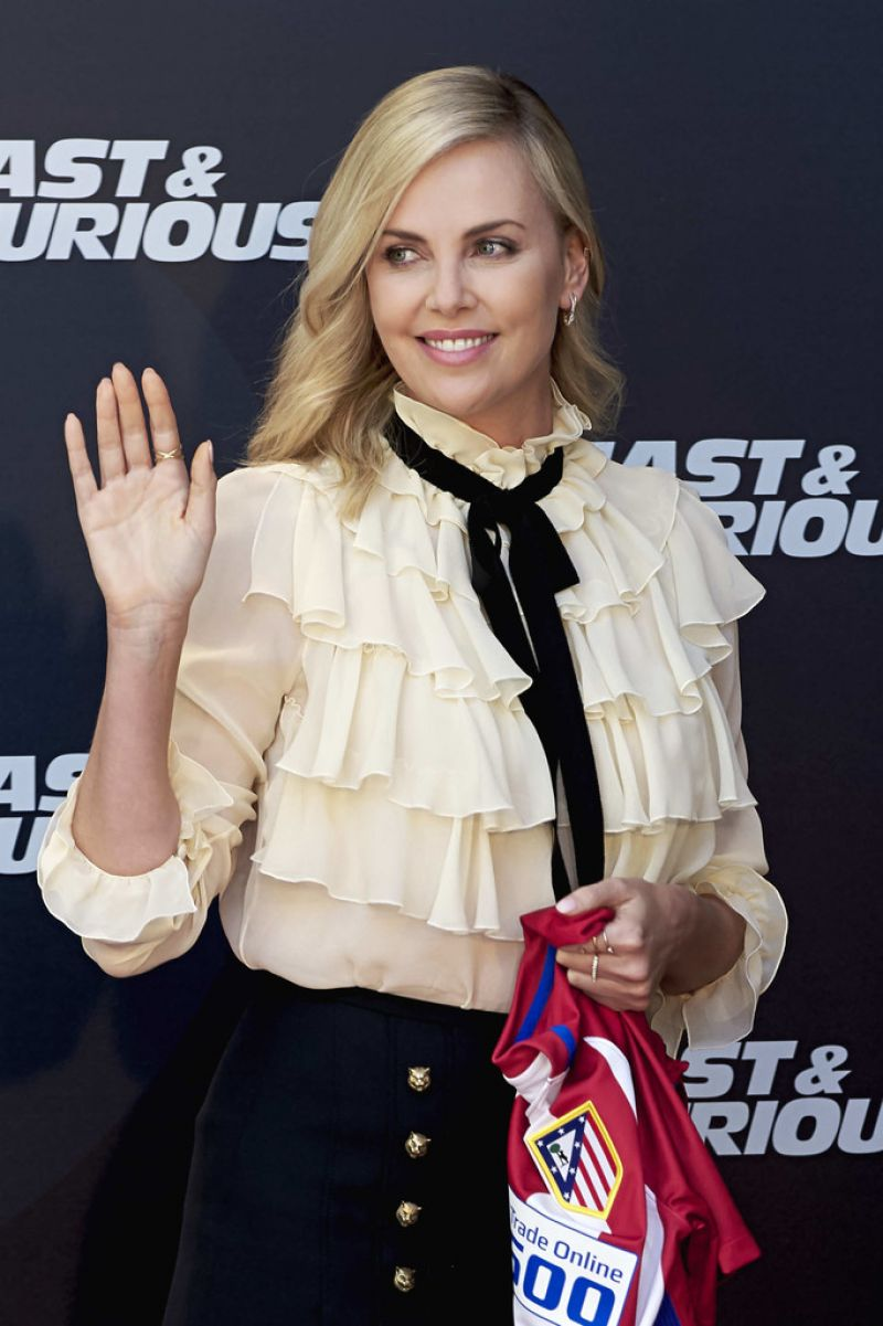 CHARLIZE THERON at The Fate of Furious Photocall in Madrid 04/06/2017