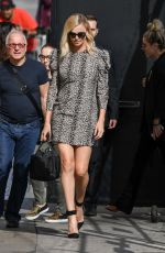 CHARLIZE THERON Leaves Jimmy Kimmel Live in Hollywood 04/13/2017