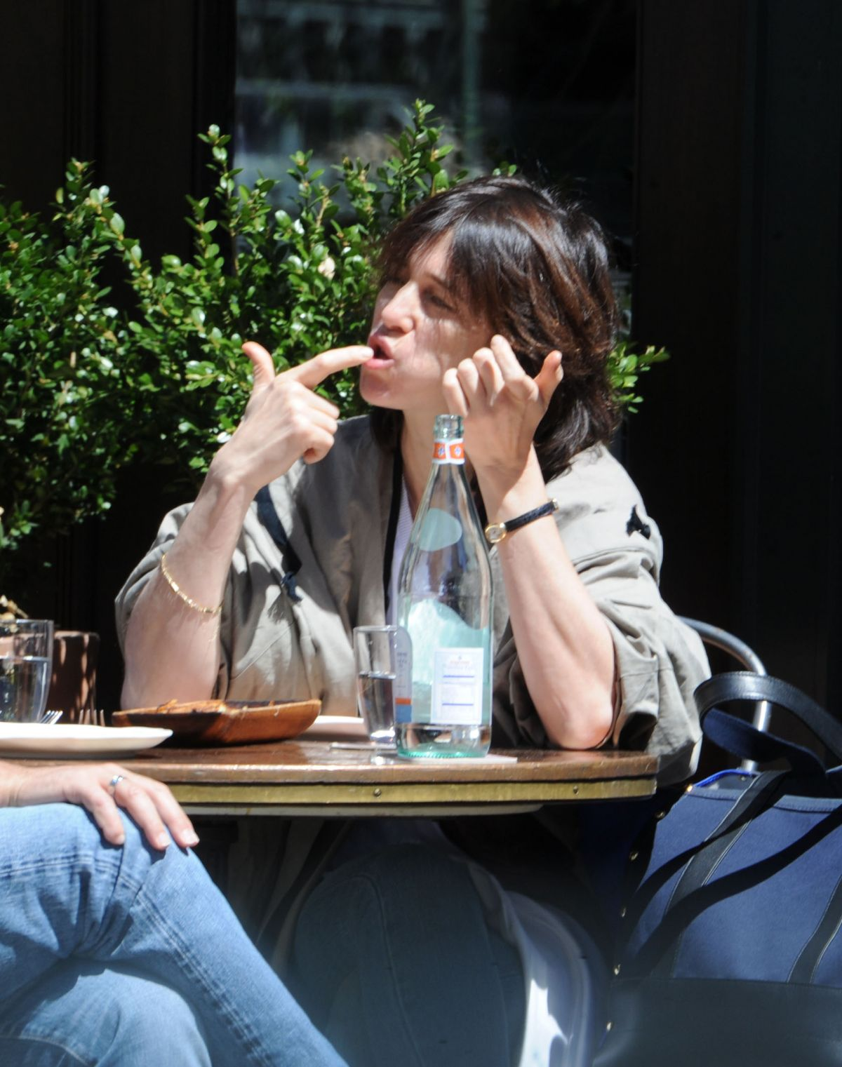 CHARLOTTE GAINSBOURG Out for Lunch in New York 04/23/2017