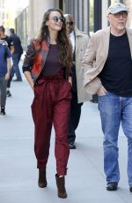 CHARLOTTE LE BON Out and About in New York 04/18/2017