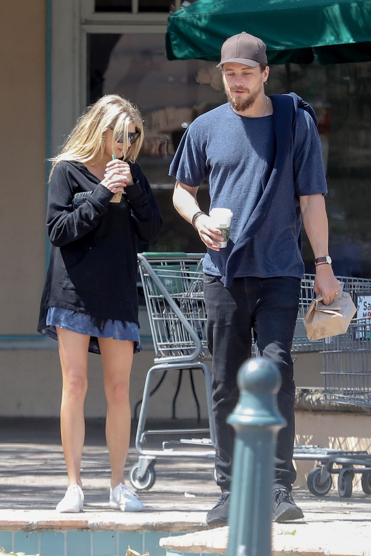 CHARLOTTE MCKINNEY and Ben Robson Out for Coffee in Malibu ...