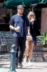CHARLOTTE MCKINNEY and Ben Robson Out for Coffee in Malibu 04/09/2017