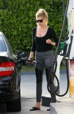 CHARLOTTE MCKINNEY at a Gas Station in Los Angeles 04/06/2017