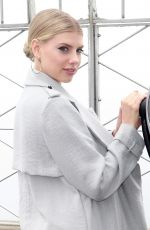 CHARLOTTE MCKINNEY at Eempire State Building Photoshoot to Promote Her New Movie 04/21/2017