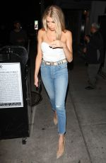 CHARLOTTE MCKINNEY in jeans Leaves Craig