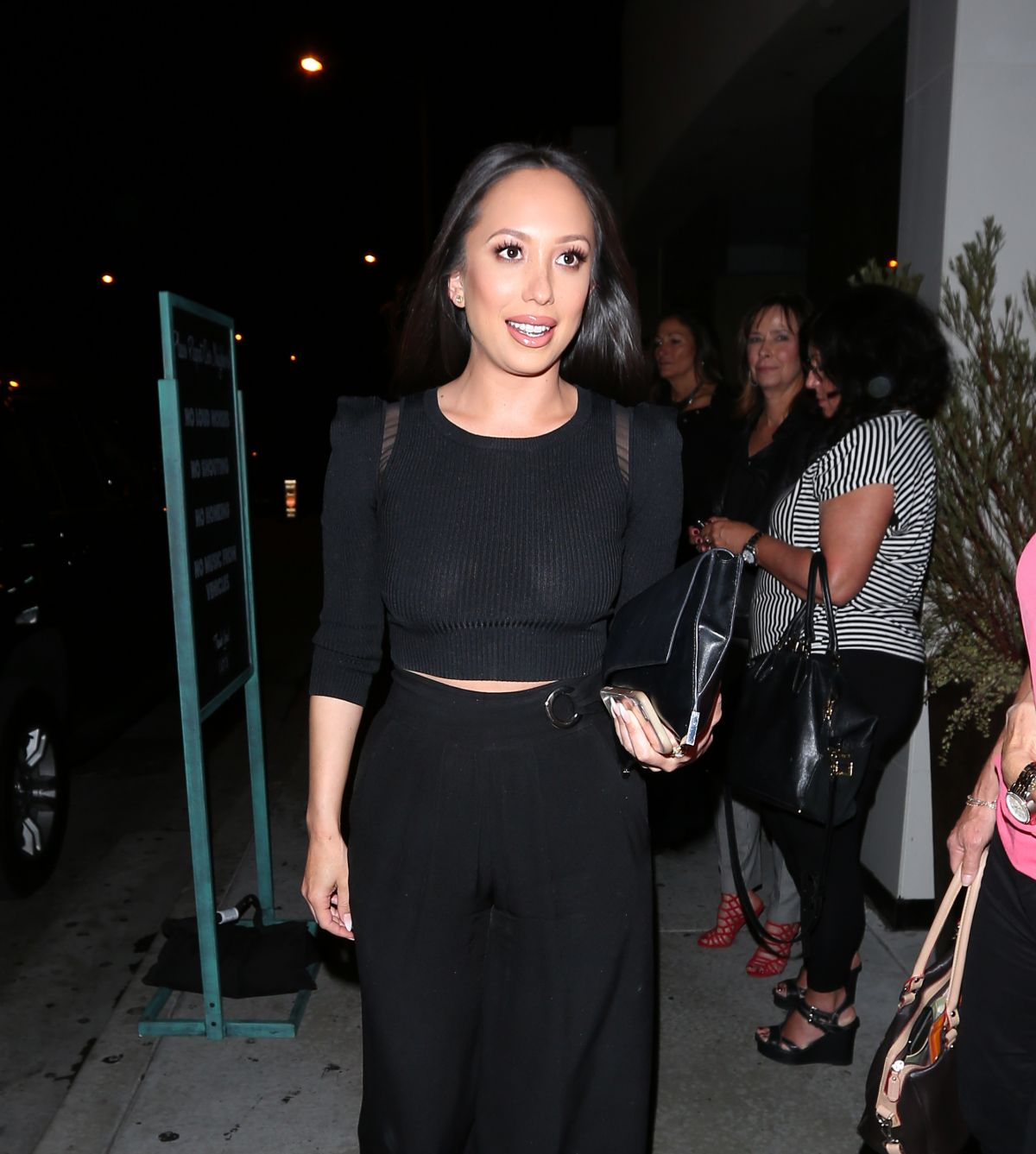 CHERYL BURKE Out for Dinner at Catch LA in West Hollywood 04/22/2017