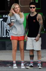 CHIARA FERRAGNI and Fedez Out for Lunch at Joans on Third in Los Angeles 04/25/2017