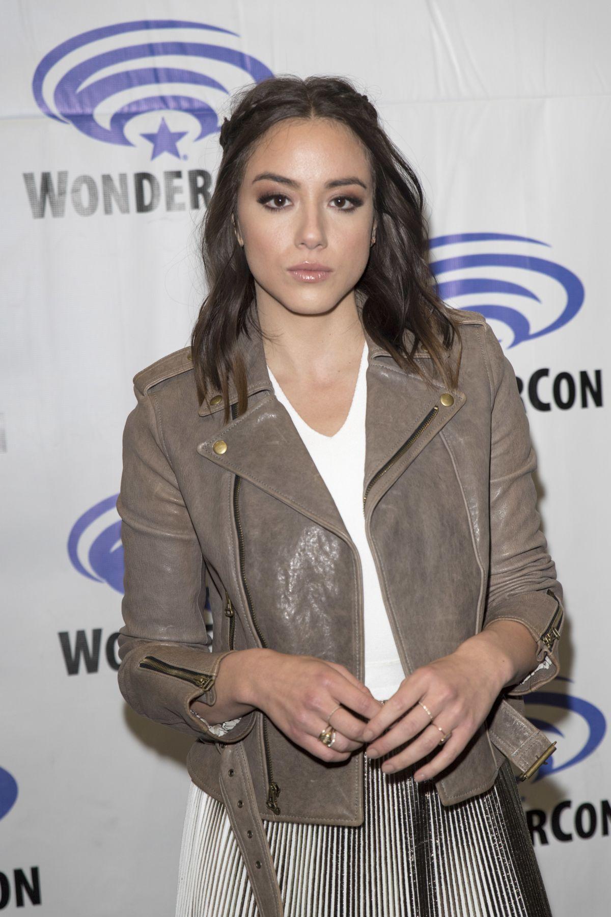 CHLOE BENNET at Agents of S.H.I.E.L.D. Press Room at WonderCom in Anaheim 04/01/2017