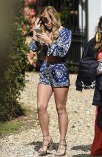 CHLOE MEADOWS on the Set of Towie Finale in Coventry 04/26/2017