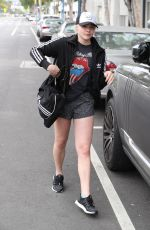 CHLOE MORETZ in Shorts Leaves Pilates Class in Los Angeles 04/06/2017