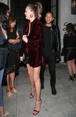 CHRISSY TEIGEN Leaves Spago in Beverly Hills 04/08/2017