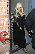CHRISTINA AGUILERA at Leaves a Club in Los Angeles 04/25/2017