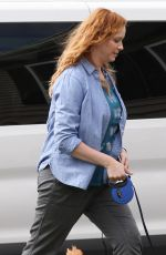 CHRISTINA HENDRICKS on the Set of The Burning Woman in Brockton 04/27/2017