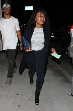 CHRISTINA MILIAN and Brandon Marshall Leaves Catch LA in West Hollywood 04/06/2017
