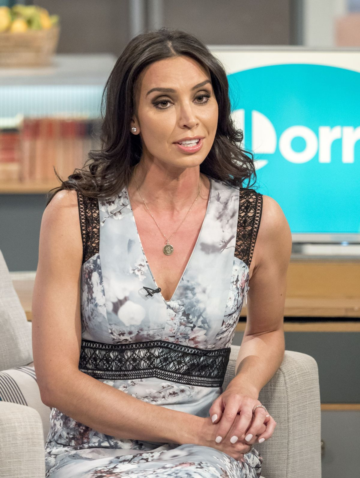 CHRISTINE BLEAKLEY at Lorraine Show in London 04/20/2017