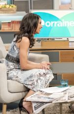 CHRISTINE BLEAKLEY at Lorraine Show in London 04/20/2017