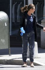 CHRISTY TURLINGTON Out with Her Dog in New York 04/08/2017
