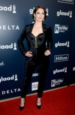 CHYLER LEIGH at 2017 Glaad Media Awards in Los Angeles 04/01/2017