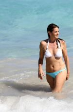 CINDY CRAWFORD in Bikini on the Beach in St Barth 04/07/2017