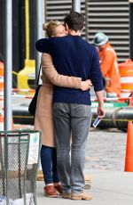 CLAIRE DANES and Her Husband Hugh Dancy Out in New York 04/25/2017