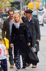 CLAIRE DANES Out and About in New York City 04/21/2017