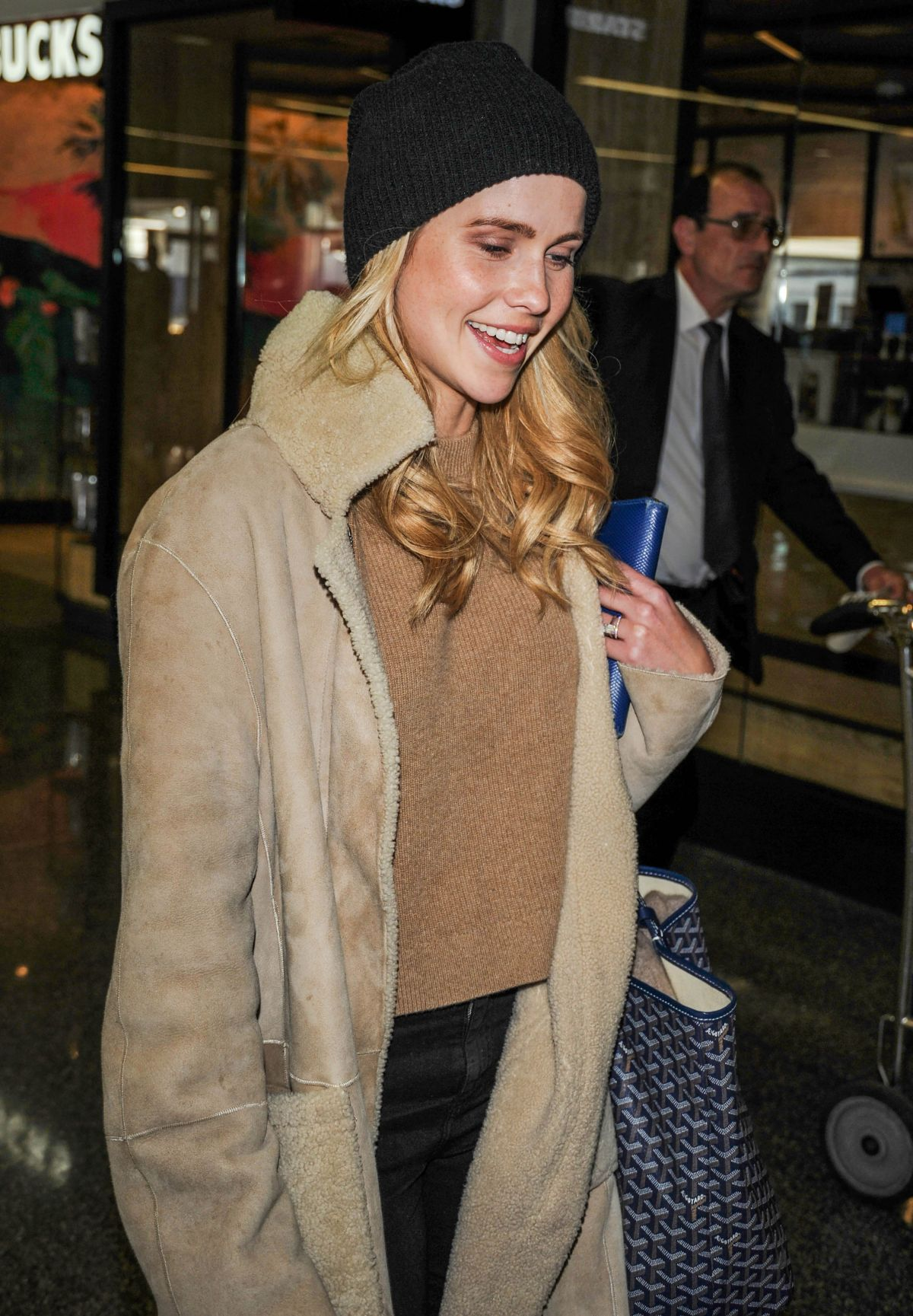 CLAIRE HOLT at LAX Airport in Los Angeles 04/04/2017