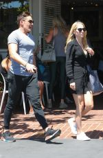CLAIRE HOLT Out for Lunch in West Hollywood 04/20/2017