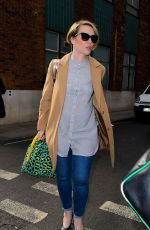 CLAIRE RICHARDS Arrives at AOL Studo in London 04/25/2017