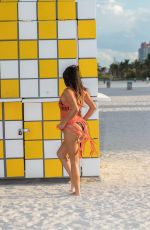 CLAUDIA ROMANI in Bikini at South Beach in Miami 04/09/2017