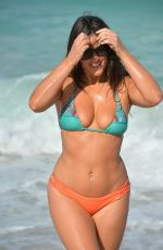 CLAUDIA ROMANI in Bikini on the Beach in Miami 04/20/2017