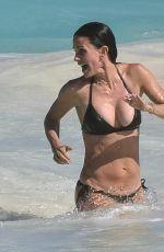 COURTENEY COX in Bikini on the Beach in Bahamas 04/04/2017