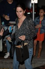 COURTENEY COX Out for Dinner in Los Angeles 04/27/2017