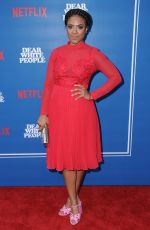 COURTNEY SAULS FEATHERSON at Dear White People Series Premiere in Los Angeles 04/27/2017