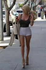 COURTNEY STODDEN in Shorts Out in Beverly Hills 04/05/2017
