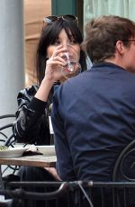 DAISY LOWE Out for Lunch in New York 04/13/2017