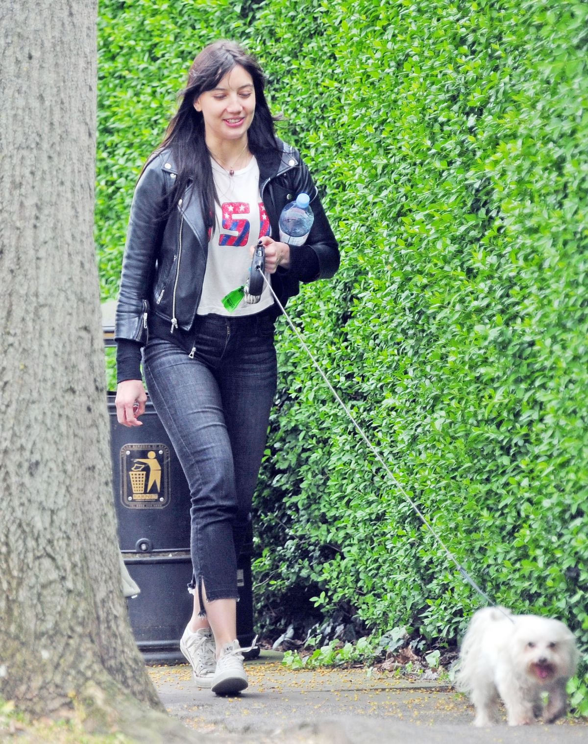 DAISY LOWE Out with Her Dog in London 04/24/2017