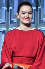 DAISY RIDLEY at Star Wars: The Last Jedi Press Line at 2017 Star Wars Celebration in Orlando 94/14/2017