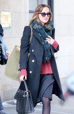 DAKOTA JOHNON Leave Her Apartment in New York 01/26/2016