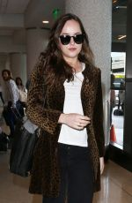 DAKOTA JOHNSON at Los Angeles International Airport 04/27/2017