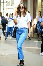 DAKOTA JOHNSON in Jeans Out in New York 04/28/201
