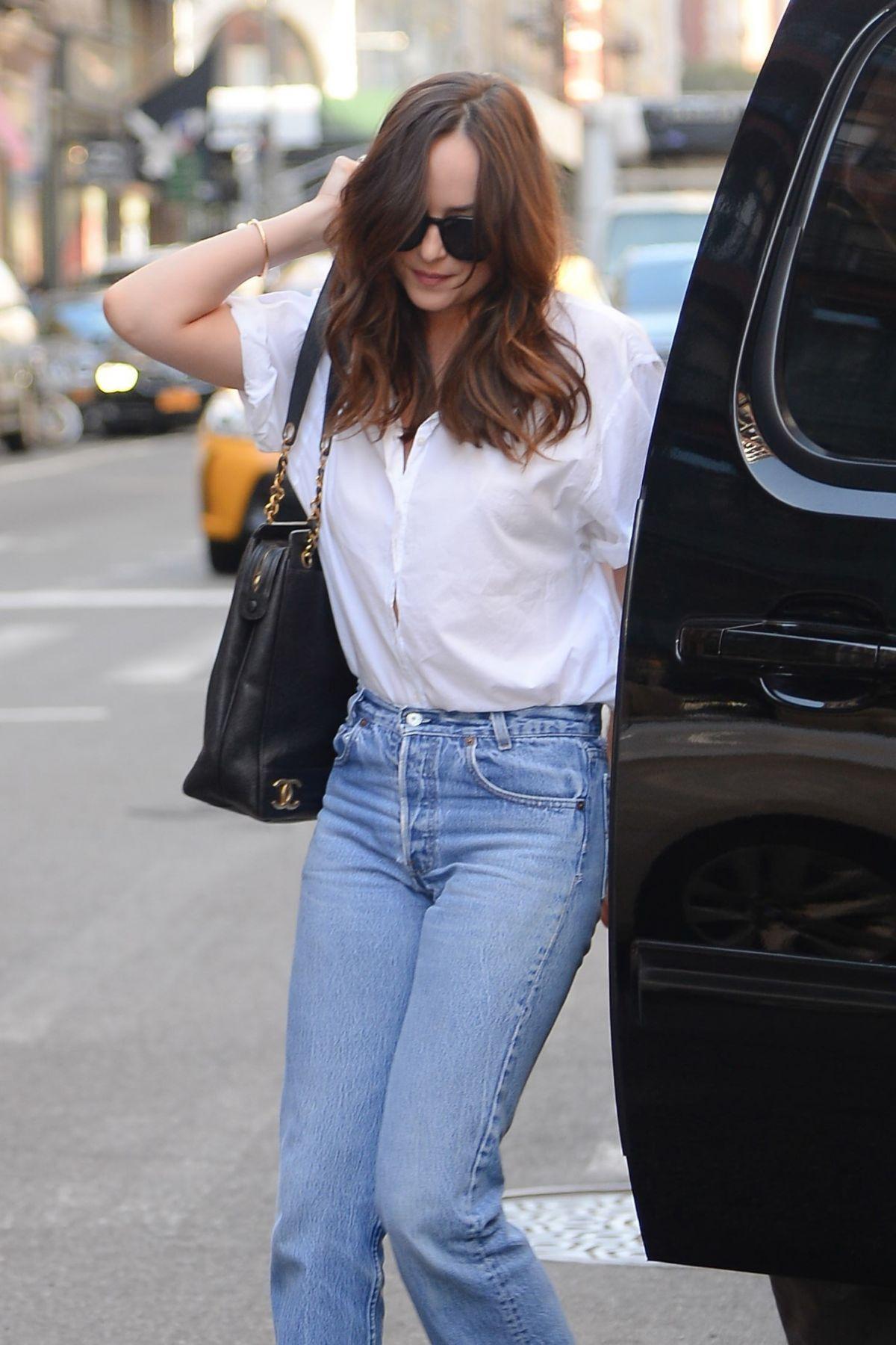 DAKOTA JOHNSON In Jeans Out In New York 0428201 HawtCelebs